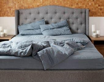 Wonderful Leinen Bettbezug. Natürliche Bettwäsche Grau Blau. Geschenk Leinen. Flachs  Bettwäsche. Nice Ideas