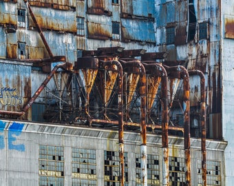 Rusty Factory in Montreal Quebec Photograph Print