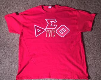 Delta Sigma Theta (TWILL Stitched/Embroidered 3D Lettering)