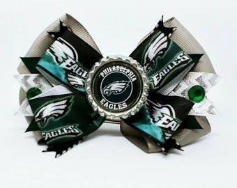Philadelphia Eagles NFL Champions Football Hair Bow Headband Super Bowl