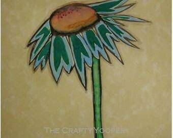Dandelion, 5x7, Watercolor print, Abstract