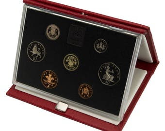 1991 Royal Mint Proof Set Red Leather Deluxe