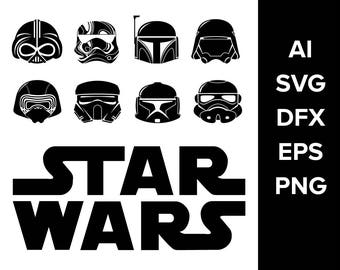 Star wars svg vector, strom troopers svg, instant download, png images, eps file, cricut starwars, silhouette starwars