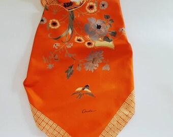 Vintage pure thai silk scarf