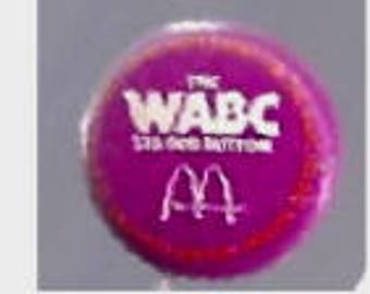 WABC 1976 25,000 McDONALDS Pin Back
