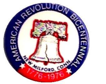American Revolution Bicentennial 1776-1976 Pin Back