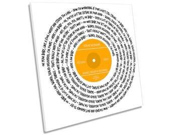 Stevie Wonder Signed Sealed & Delivered Song Lyrics Vinyl CANVAS WALL ART Picture Square Print