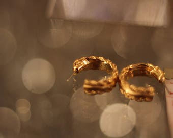 Vintage Gold Plated Hoops