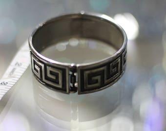 Black & Silver Aztec Bracelet