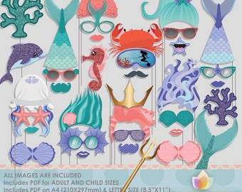 Mermaid Under The Sea Photo Booth Props