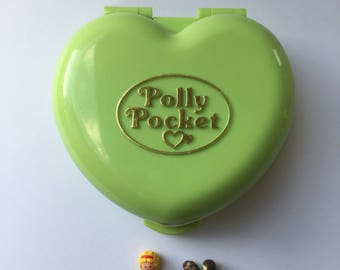 Vintage Polly Pocket Polly's Pony Club Complete 1989 By Bluebird Toys