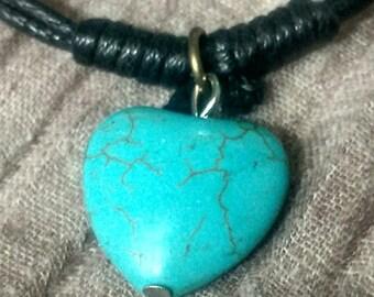 Bracelet turquoise cœur