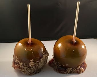 Caramel flavored Candied Apples dipped in brown sugar! Old Fashioned Candy Apples.Individually wrapped.