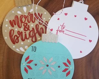 Merrry and Bright Gift tags