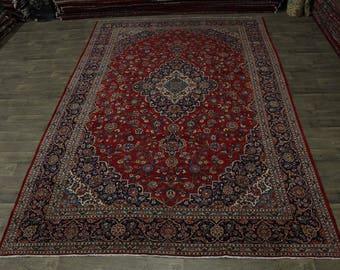 10X14 Nice Traditional Antique Kashan Persian Area Rug Oriental Carpet 9ʹ6X14