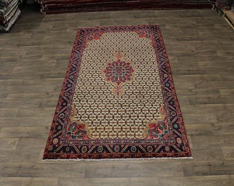 Charming Design Hand Knotted Koliaie Persian Rug Oriental Area Carpet Sale 5X10