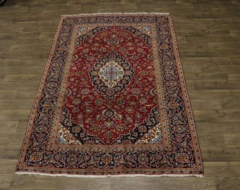 Traditional Handmade S Antique Kashan Persian Wool Rug Oriental Area Carpet 6X10