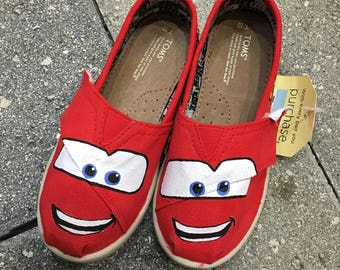 Lightning McQueen Painted TOMS