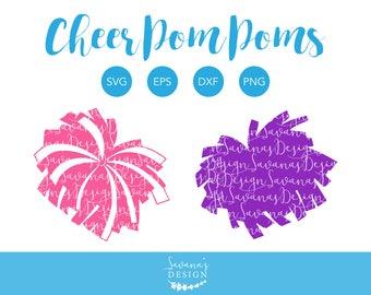 Pom Pom SVG, Pom Pom SVG File, Pom Pom Cut File, Pom Pom Clipart, Pompom Svg, Cheerleading Pom Pom SVG, Cheerleading Svg, Cheerleader Svg