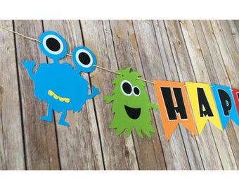 Monster banner , Monster birthday banner , Little monster banner , Monster party , Little monster party , Monster birthday , Little monster