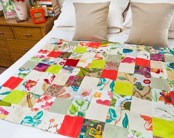 Handmade Patchwork Quilt - Butterfly World