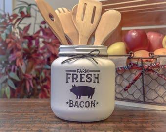 Rustic Farmhouse Utensil Holder, Home Decor, Farmhouse Decor, Rustic Decor, Vintage Decor, Country Decor, Country Kitchen, Rustic Kitchen