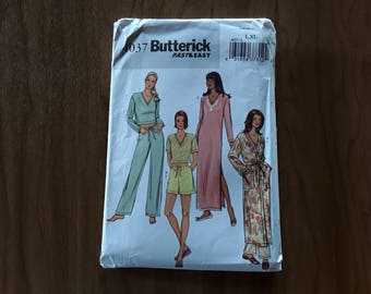 Butterick 4037 Nightgown, Drawstring Pants, Shorts & Top, Robe Sewing Pattern Size Misses Size Large-XLrg 16-22