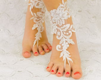 Wedding Accessories | Barefoot Sandals Beach Wedding Shoes, bridal accessories, barefoot sandles, lace barefoot sandals 07