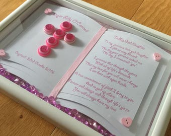 Gift for God-Daughter Christening Gift, Baptism, Naming Day, Gift for God-Son