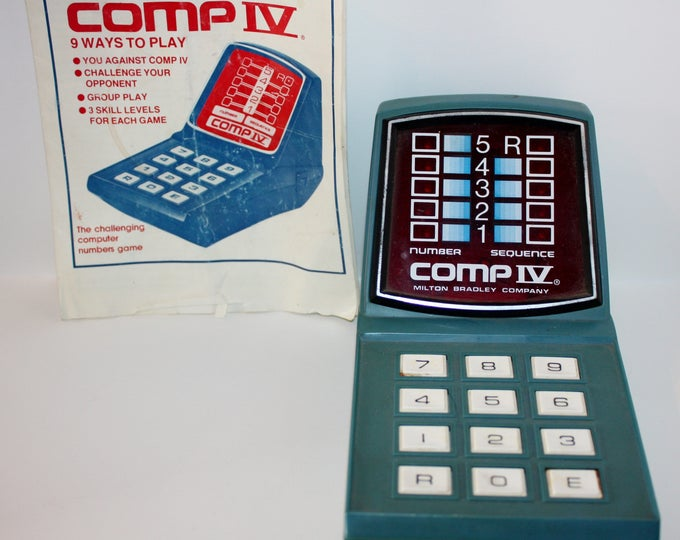 COMP IV Number Sequence Game Electronic Game 1978 Milton Bradley Works