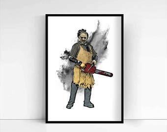 The Texas Chainsaw Massacre 'Leatherface' A4 Portrait