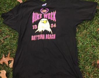 Vintage Distressed 1994 53rd Daytona Beach Bike Week Sz XL 90s 1990s Biker Motorcycle Harley Eagle Tee T-Shirt