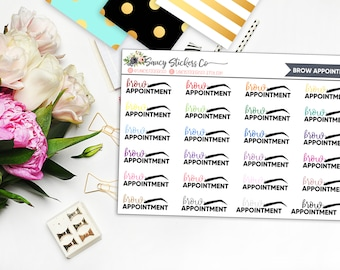 Brow Appointment | for use with Erin Condren Lifeplanner™, Filofax, Personal, A5, Happy Planner