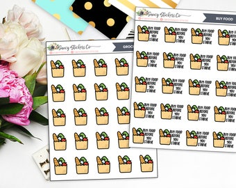 Buy Food Grocery Bags Planner Stickers | for use with Erin Condren Lifeplanner™, Filofax, Personal, A5, Happy Planner