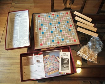 1948 Vintage Scrabble Game by Selchow & Righter Company – Complete