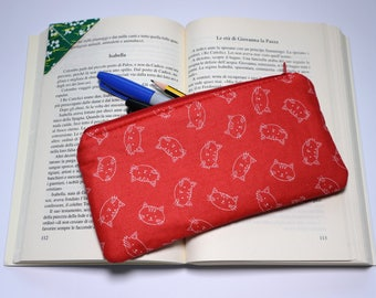 Pencil case/zipper pouch/back to school/African wax/pencil pouch/cotton/cuciricucishop/