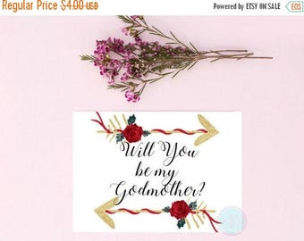 25% OFF SALE- DIGITAL Invite Will You Be My Godmother Godmother Gift God Parent Gift You Be My Godmother Godparent Gift God Father Gift  God