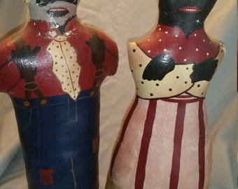 Antique Folk Art Dolls