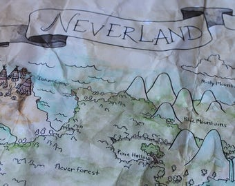 Neverland Fairytale Map, Peter Pan and Wendy's Adventure