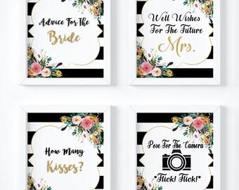 Kate Spade Bridal Shower/ Kate Spade Theme/ Spade Party/ Printable/ Advice For The Bride/ Wedding Sign/ Bar Sign/Wedding Decor