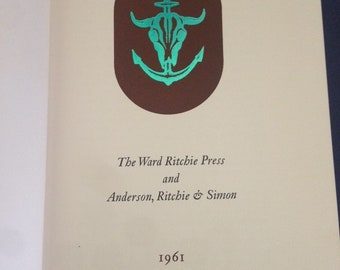 WARD RITCHIE PRESS  Ltd 1/1000 Fine press printing / history bibliography 1961