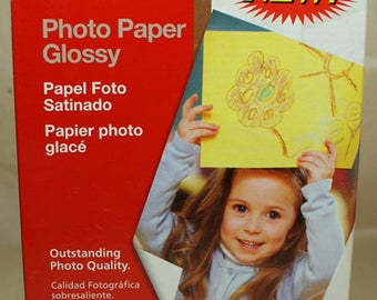 Canon Photo Paper Glossy, 4x6, GP502, 100 Sheets, 45 lbs, 98 ISO. New sealed in package. Great for framing & scrapbooking.