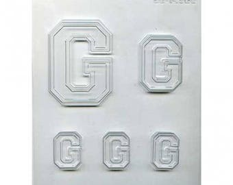 "Collegiate Letter ""G"" Chocolate Candy Mold"