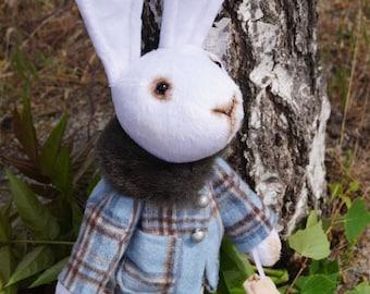 Toy rabbit Interior decoration Nursery décor Plush toys Primitive rabbit Fabric doll Cloth dolls Child gift Kids toy Bunny doll Doll