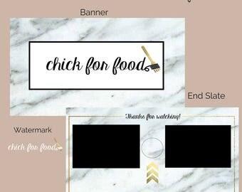 Custom Marble Youtube End Slate - Branding - Social Media - Design