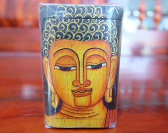 Wooden Hand Painted Buddha Box