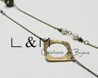 Brass necklace gilded with Swarovski Element beads