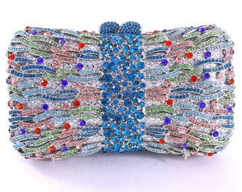 Crystal Contour Dazzling Clutch Bag