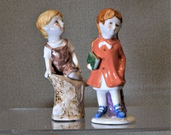 Boy and Girl Figurines Vintage