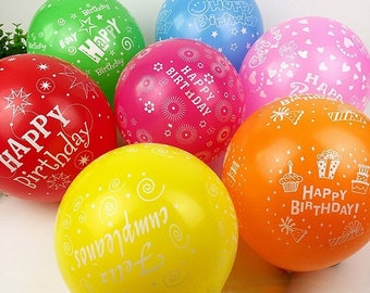 50pcs 12inch Latex Multicolor Balloons Happy Birthday Party Party Balloon Inflatable Decoration Globos Air Balls Baloons